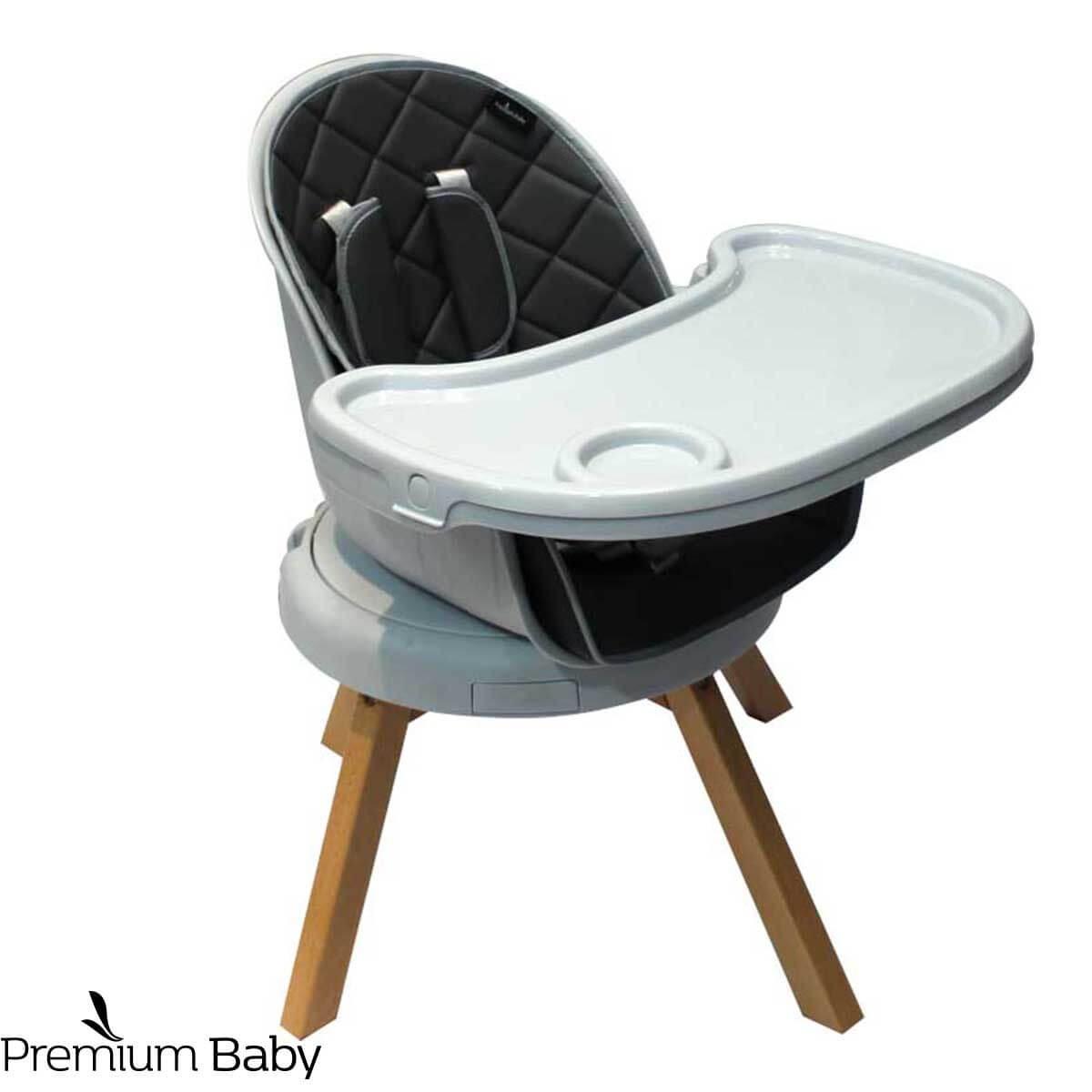 SILLA DE COMER 3 EN 1 PREMIUM BABY WOOD 360º